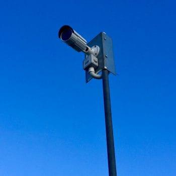 Hikvision CCTV installation on pole