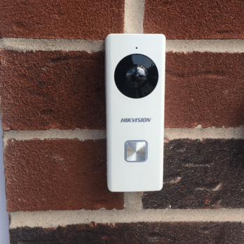 Hikvision doorbell close up