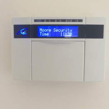 Pyronix keypad on wall Lutterworth