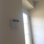 Pyronix keypad and PIR mounted on wall