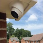 CCTV installation Solihull side view