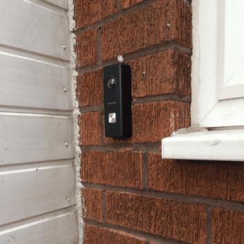 black hikvision wifi doorbell in birmingham