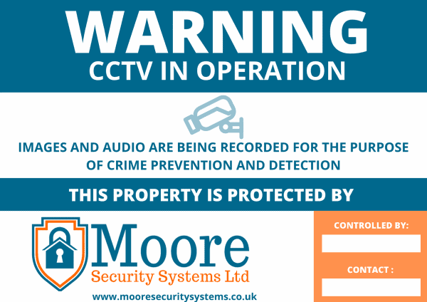 A3 CCTV Commercial Signs