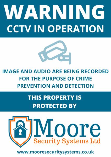 A5 CCTV Signs
